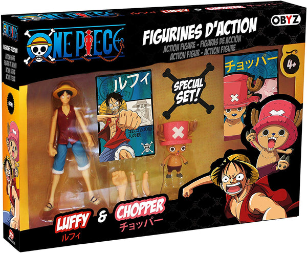 One Piece - Luffy & Chopper Action Figure Twin-Pack - Kryptonite Character Store