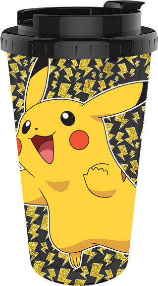 Pokemon Happy Pikachu Plastic Travel Cup - Kryptonite Character Store