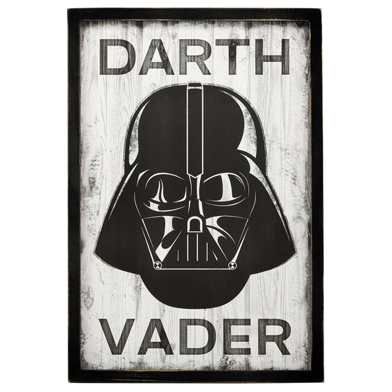 Star Wars Rustic Vader Wooden Wall Art - Kryptonite Character Store