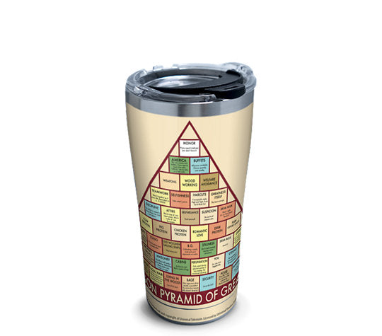 Parks and Recreation - Greatness Pyramid Stainless Steel With Hammer Lid Metal Tumbler 20 Oz- Kryptonite Character Store