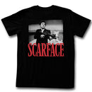 Scarface Tony Ready To Shoot Cockaroaches Licensed Adult T Shirt
