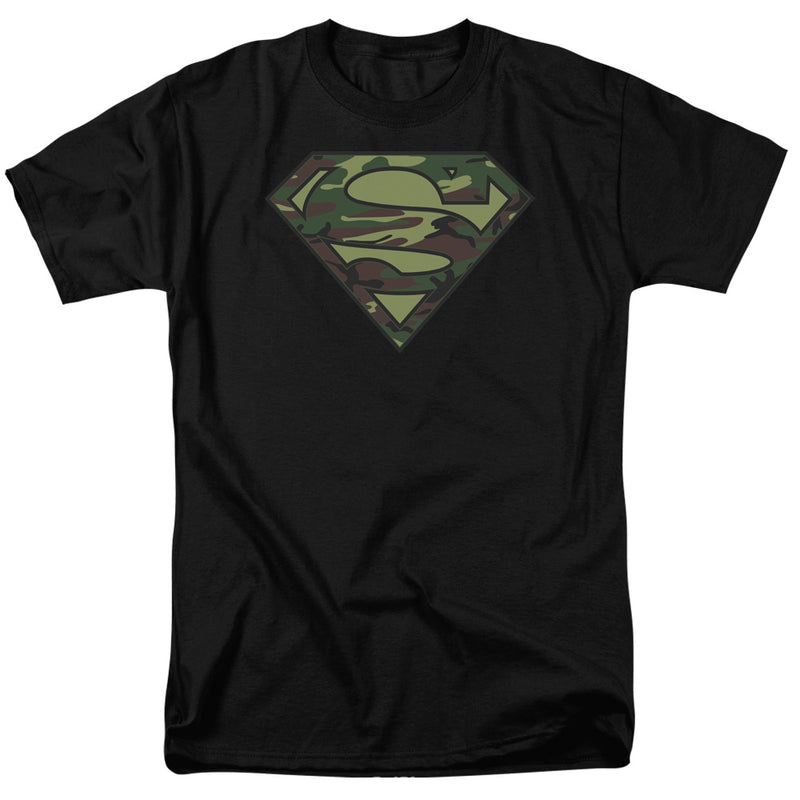 Superman Camo Logo Adult Short Sleeve T-Shirt