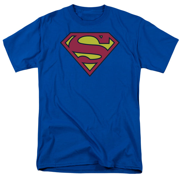 DC Comics Superman Classic Logo Men's Royal Blue T-shirt