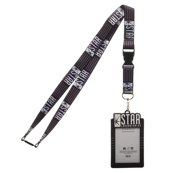 Star Labs Breakaway Lanyard With Rubber ID Badge Holder - Kryptonite Character Store