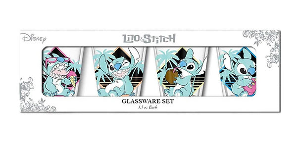 Lilo and Stitch Pastel 4pc Shot Glass Set Standard - Kryptonite Character Store