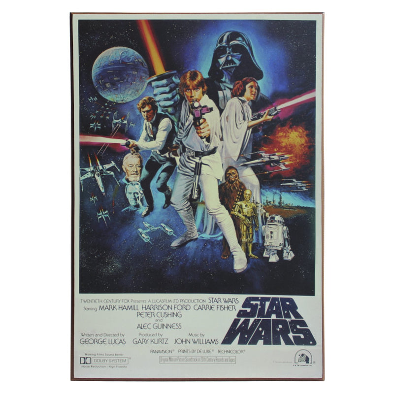 Disney Star Wars Episode 4 Poster Wood Wall Art, 13 x 19 inches