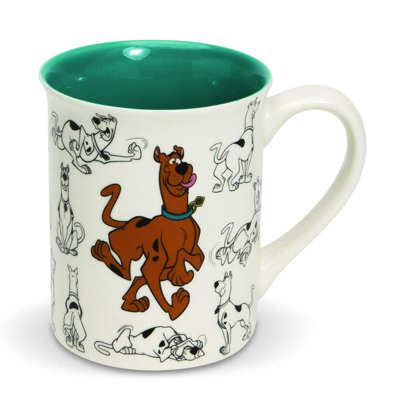 Scooby Doo Ceramics Model Sheet Coffee Mug, 16 Ounce