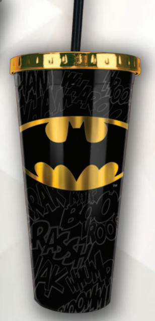 DC Comics - Batman Foil Cup w/Straw 20 oz - Kryptonite Character Store