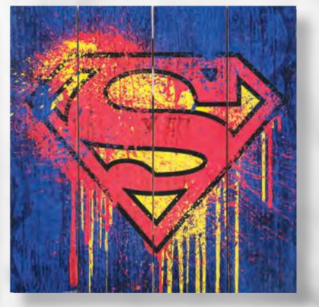 DC Comics - Superman Wooden Home Decor Sign - Kryptonite Character Store