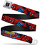 Marvel Spider Man Full Color Seatbelt Buckle Belt