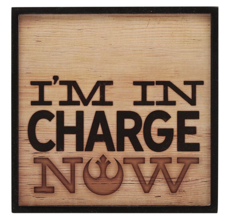 Star Wars Rustic Pencil Thin Hallow Frame  Wall Art - Im In Charge Now - Kryptonite Character Store
