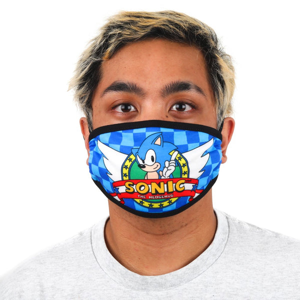 Sonic Adjustable Face Cover - Kryptonite Character Store