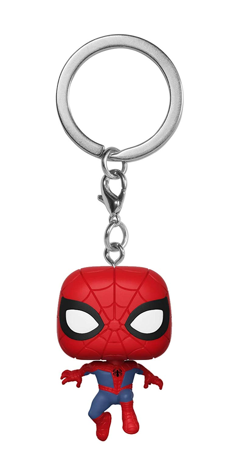 Funko Pop Keychain Animated Spider-Man Movie - Spider-Man Collectible Figure