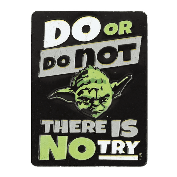 Star Wars Yoda Do or Do Not Embossed Tin Magnet
