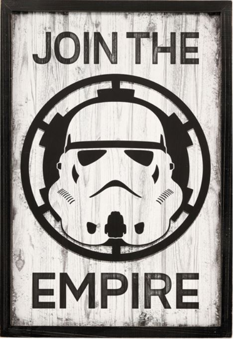 Star Wars  Storm trooper Join The Empire Framed Wall Art- Kryptonite Character Store