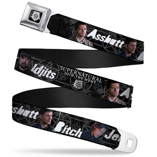 Supernatural 4- Character Poses Webbing Seatbelt Belt