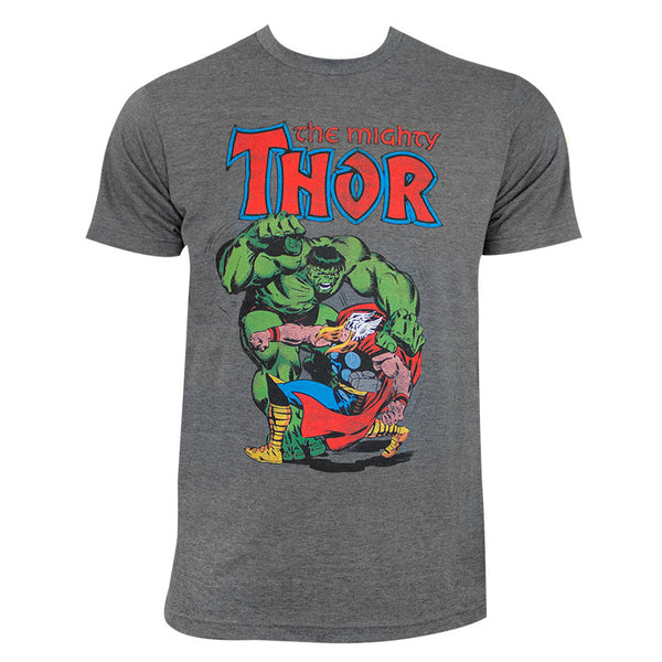 Marvel Comics - The Mighty Thor  vs. Hulk Adult Fitted T-shirt