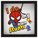 Marvel Spiderman, I Do My Own Stunts- Vintage Wood Wall Art Signs- Kryptonite Character Store