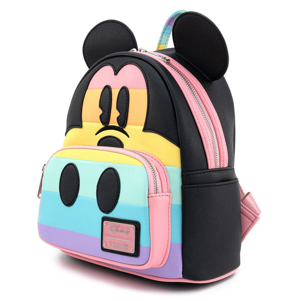 Mickey Mouse Pastel Rainbow Mini Backpack