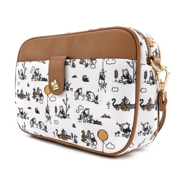 Winnie the Pooh Line Drawing Crossbody
