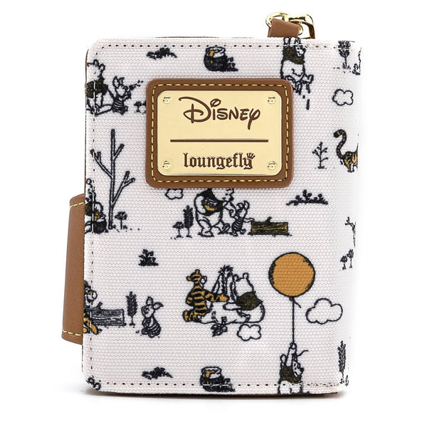 Winnie the Pooh Canvas Line Drawing Wristlet Wallet