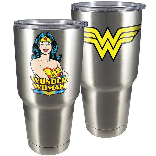 Wonder Woman Large Stainless Steel Travel Mug with Lid - Kryptonite Character Store