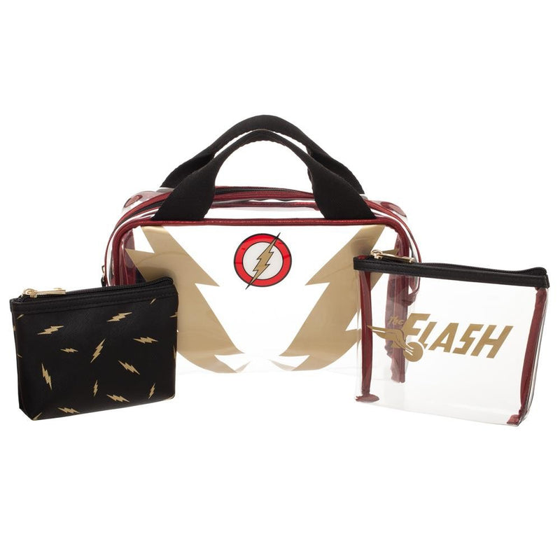 DC Comics The Flash 3 Piece Travel Set Cosmetic Case Toiletry Bag