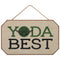 Yoda Best Star Wars Hanging Wood Wall Décor