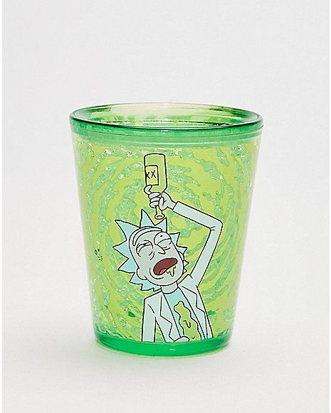 Rick and Morty Riggety Riggety Wrecked Shot Glass