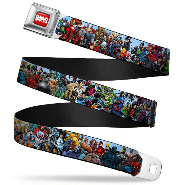 Marvel Comics Full Color Avengers Seat Belt Buckle Belt - Kryptonite Character Store