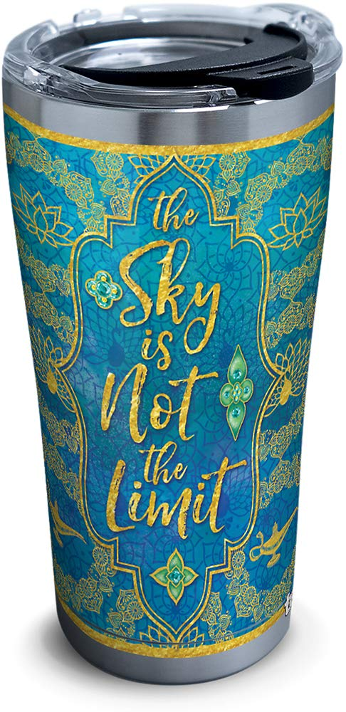 Disney - Aladdin Pattern Stainless Steel Insulated Tumbler with Lid, 20 oz- Kryptonite Character Store