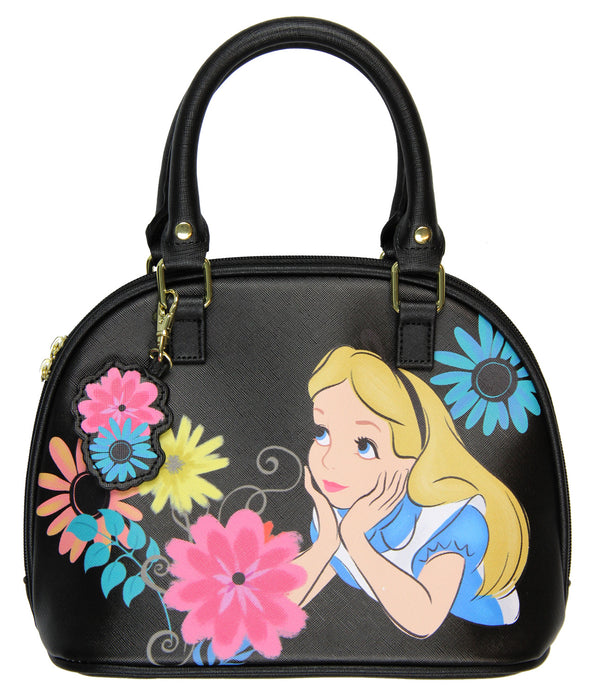 Disney - Alice in Wonderland with Flowers - Duffle Satchel Purse Handbag