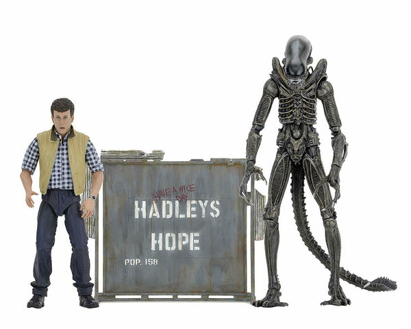 "Aliens 7"" Hadley's Hope Set 2 Pack Action Figures - Kryptonite Character Store"