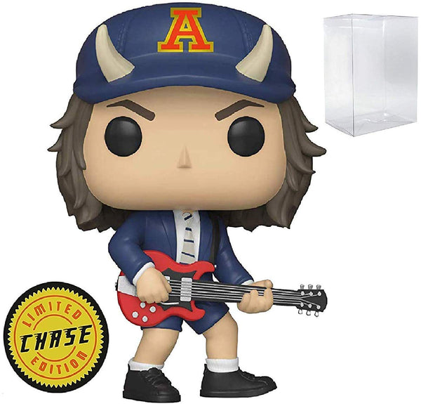 Funko Rocks: AC/DC Angus Young Limited Edition Chase Pop! Vinyl Figure (Includes Compatible Pop Box Protector Case)