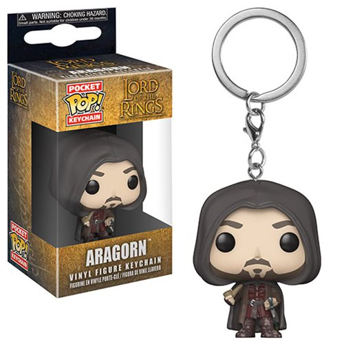 Lord of the Rings Aragorn Pocket Pop! Key Chain - Kryptonite Character Store