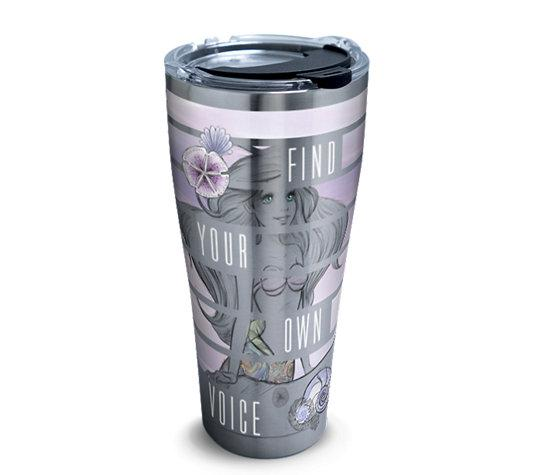 "The Little Mermaid ""Find Your Own Voice"" 30 oz. Stainless Steel Tervis Tumbler- Kryptonite Character Store"