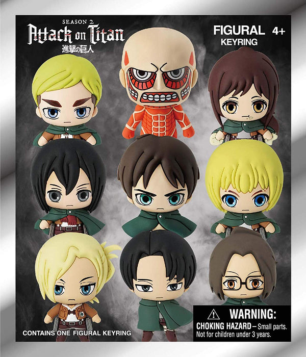 Attack on Titan Season 2 3D Foam Key Ring Blind Bag - Kryptonite Character Store