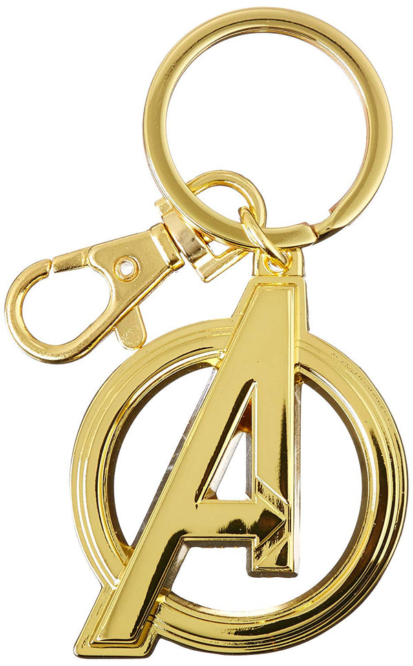 Marvel  Avengers Logo in Gold - Pewter Key Ring