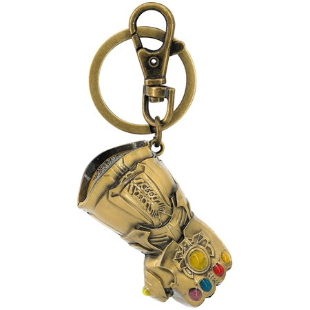 Infinity Gauntlet Gold Pewter Key Ring
