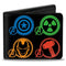 Marvel Comics - Avengers Super Hero Logos Men's Bi-Fold Wallet - Kryptonite Character Store