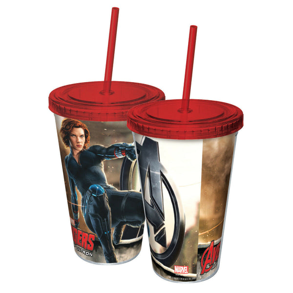Avengers - Age of Ultron - Black Widow 16 Oz Acrylic Travel Cup With Straw - Kryptonite Character Store