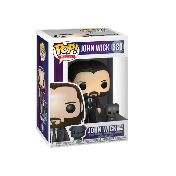 PREORDER- POP! & Buddy: John Wick - John (Black Suit) w/ Dog