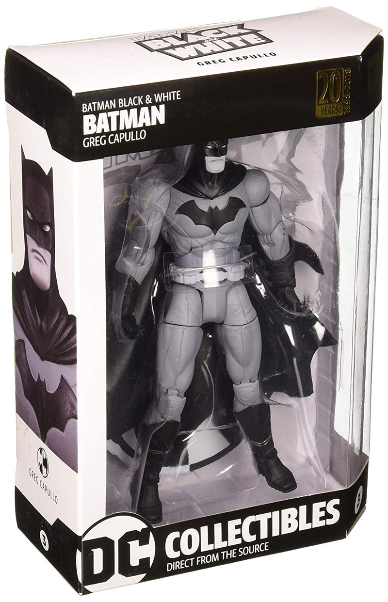 Batman Black and White Batman by Greg Capullo Action Figure - Kryptonite Character Store