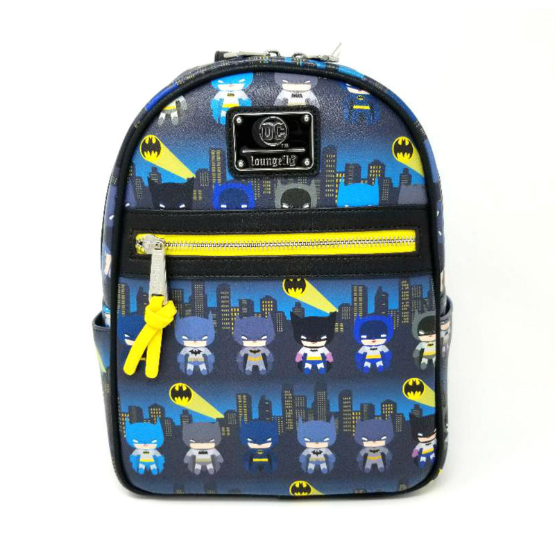 Loungefly - Batman 80th Anniversary All Over Print Chibi Mini Backpack - Kryptonite Character Store
