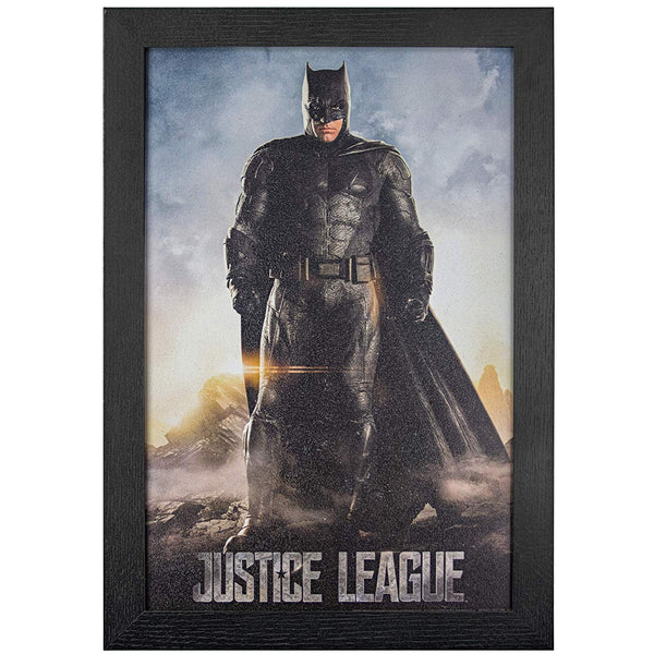 "D.C. Comics Justice League Batman Framed Wall Art 19"" H x 13"" L Multicolored - Kryptonite Character Store"