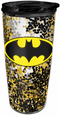 Batman Glitter Travel Tumbler
