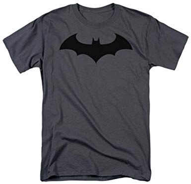 DC Comics Batman Bat Logo Charcoal T-Shirt