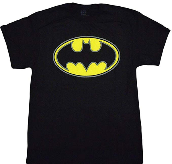 DC Comics - Batman Oval Puff Logo Adult T-Shirt