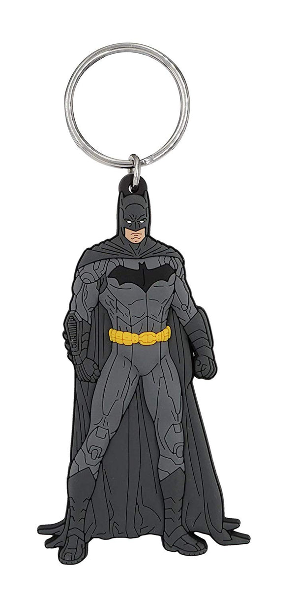 "DC - Batman - Soft Touch PVC Key Ring, 3"", Multicolor - Kryptonite Character Store"