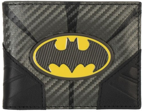 Dc Comics Batman Metal Badge Bifold Wallet - Kryptonite Character Store